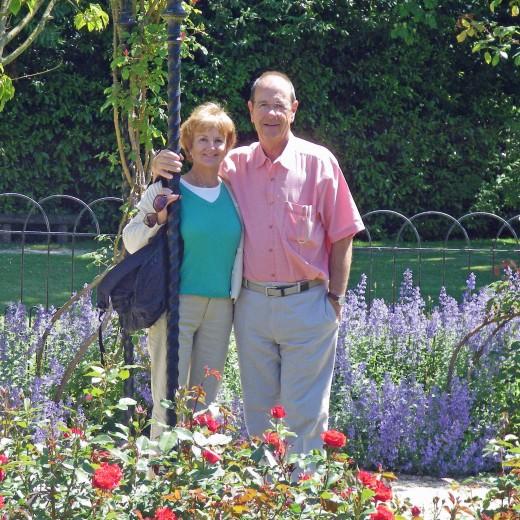 Blenheim Palace rose garden