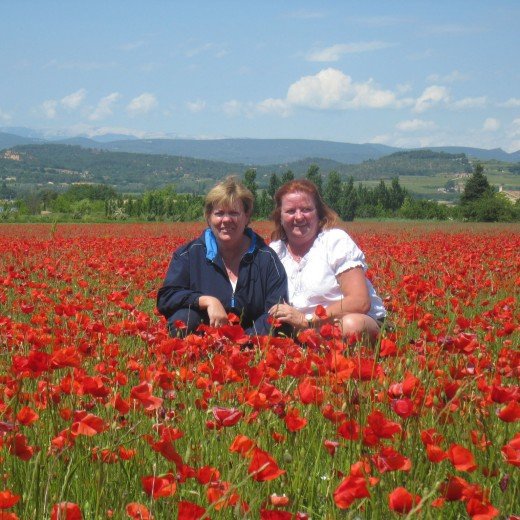 Sisters in the poppies