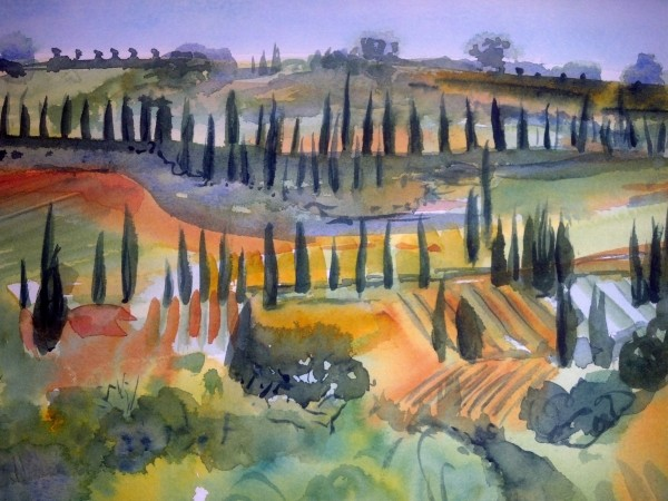 Sandy Davis - a field in Tuscany