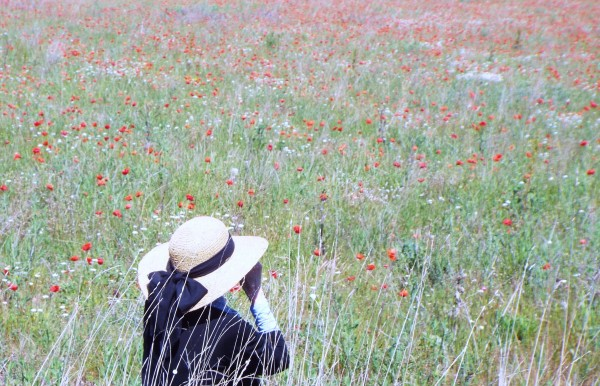 Claire in the poppies