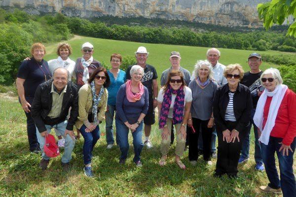 Picnic near the falaise de Lioux