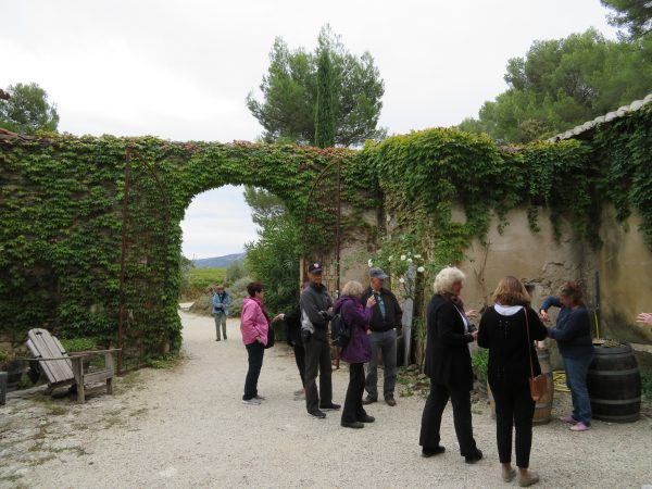 Domaine Faverot lunch, Luberon Experience